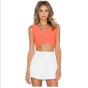 BCBG Orange crop top size Small Brand New!!